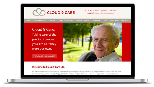 Cloud 9 Care website screenshot
