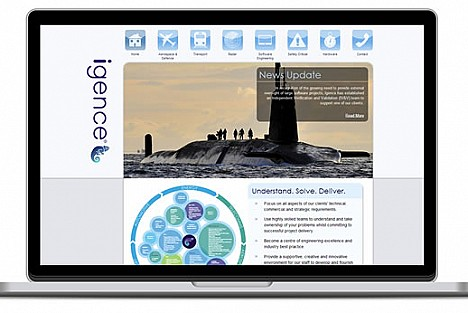 Thumbnail image of part of the Igence website